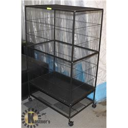 """CRITTER/BIRD CAGE WITH 2 DOORS, 31""""X20.5""""X52""""H."""