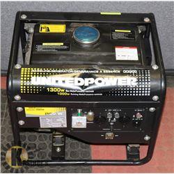 UNITED POWER GENERATOR 1300 WATT 60HZ.