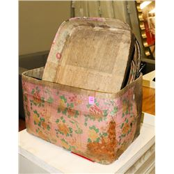 BOUTIQUE LOT OF VINTAGE STYLE BASKETS WITH LIDS