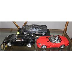 SET OF 3 VINTAGE MAISTO & DURAGO DIE CAST CARS -