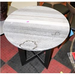 BOUTIQUE METAL AND STONE TOP END TABLE