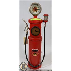 GASOLINE 66 ORNAMENT CLOCK