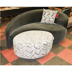BOUTIQUE DANA DESIGNER LOVE SEAT WITH OTTOMAN
