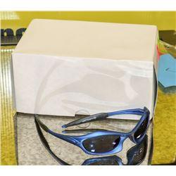BOX OF MARINE BLUE DESIGNER SUNGLASSES