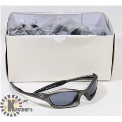 BOX OF SMOKED GREY DESIGNER SUNGLASSES