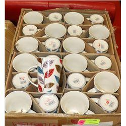 CASE OF 72 COFFEE MUGS ON CHOICE