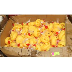 LARGE CASE OF RUBBER DUCKY SETS