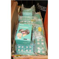 BOX OF CRYSTAL GLASS BOTTLES