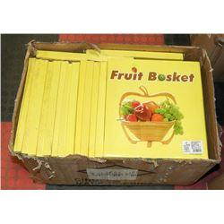 CASE OF FOLDING WOOD FRUIT BASKETS