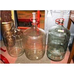 LOT OF 3 WINE MAKING CARBOYS