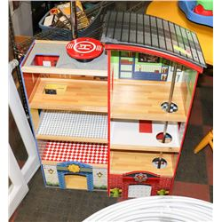 KIDCRAFT WOOD FIRE STATION 3' X 26""