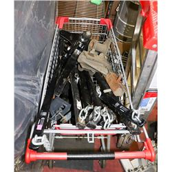 CART OF HEAVY DUTY TRAILER HITCHES-CART NOT INCL