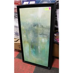 ABSTRACT FRAMED CANVAS PICTURE.
