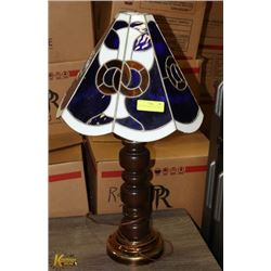 VINTAGE STAINED GLASS LAMP.