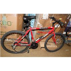 RED TECHTEAM SHIFTER BIKE 18 SPEED W/ LOCK & KEY,