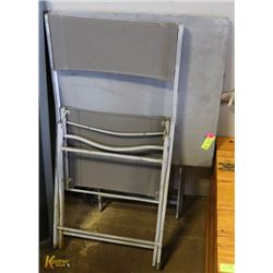 METAL TABLE WITH CHAIR