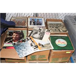 PALLET OF ASSORTED RECORDS.
