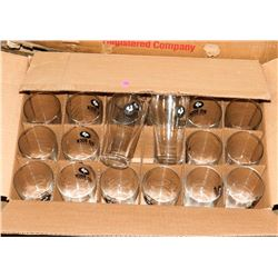 CASE OF 24 NEW BIG ROCK BEER GLASSES