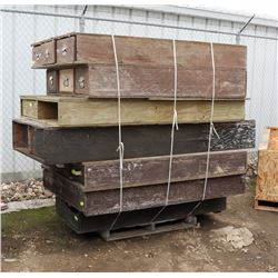 LARGE PALLET OF WOOD TOOL BOXES