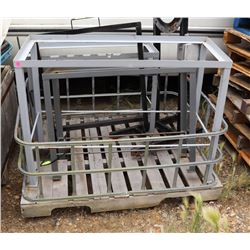 PALLET OF METAL BRACKETS AND FRAMES