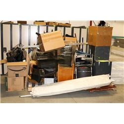 2.5 PALLETS OF ASSORTED OFFICE FURNITURE