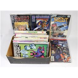 BOX WITH OVER 100 COMICS DC, MARVEL AND MORE.