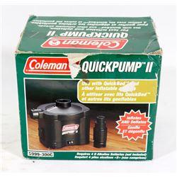 COLEMAN QUICKPUMP II INFLATES & DEFLATES