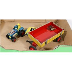 1973 LARGER SIZE LESNEY MATCHBOX TRACTOR/TRAILER W