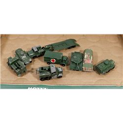 VINTAGE 8 PC LESNEY MILITARY METAL DIECAST