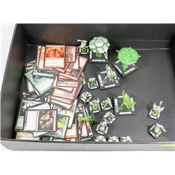 17 PC MONSTERPOCALYPSE AND 150 PC MAGIC CARDS