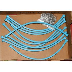 "10 NEW 24"" RUBBER BUNGEE CORDS."