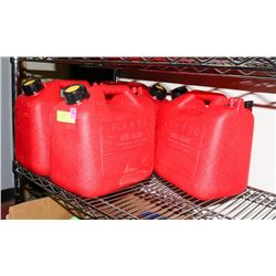 3 ASSORTED JERRY CANS.