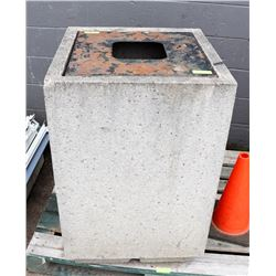 CONCRETE GARBAGE CAN