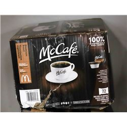 CASE OF 72 MCCAFE K-CUP COFFEE PODS