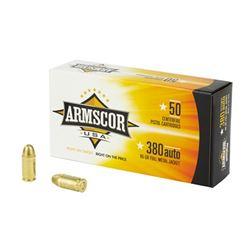 ARMSCOR 380ACP 95GR FMJ 1000 Rds