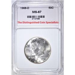1968-D KENNEDY HALF DOLLAR SUPERB GEM