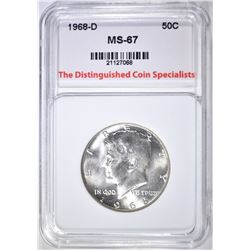 1968-D KENNEDY HALF DOLLAR SUPERB GEM