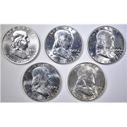 5 BU FRANKLIN HALVES