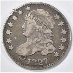 1827 BUST DIME  VF