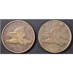 1857 & 1858 LL FYLING EAGLES FINE