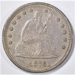 1876 SEATED LIBERTY QUARTER  XF/AU
