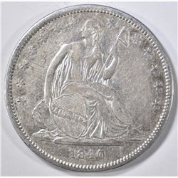 1840 SEATED LIBERTY HALF DOLLAR  CH AU