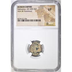 335-337 AD DELMATIUS ROMAN EMPIRE  NGC VF