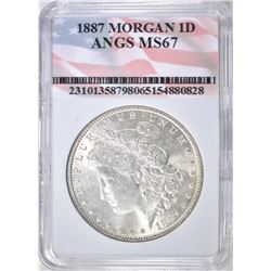 1887 MORGAN DOLLAR   ANGS  SUPERB GEM