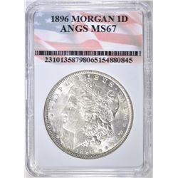 1896 MORGAN DOLLAR  ANGS SUPERB GEM