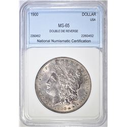1900 MORGAN DOLLAR  NNC GEM BU  DOUBLE DIE REVERSE