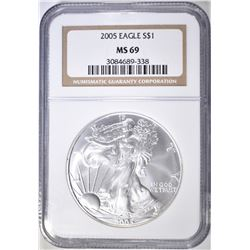 2005 AMERICAN SILVER EAGLE NGC MS-69
