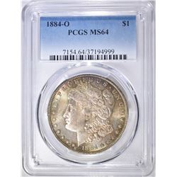 1884-O MORGAN DOLLAR  PCGS MS-64