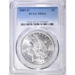 1885-O MORGAN DOLLAR  PCGS MS-63