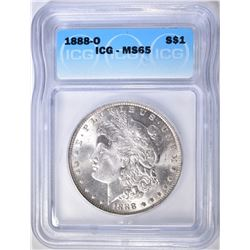 1888-O MORGAN DOLLAR  ICG MS-65